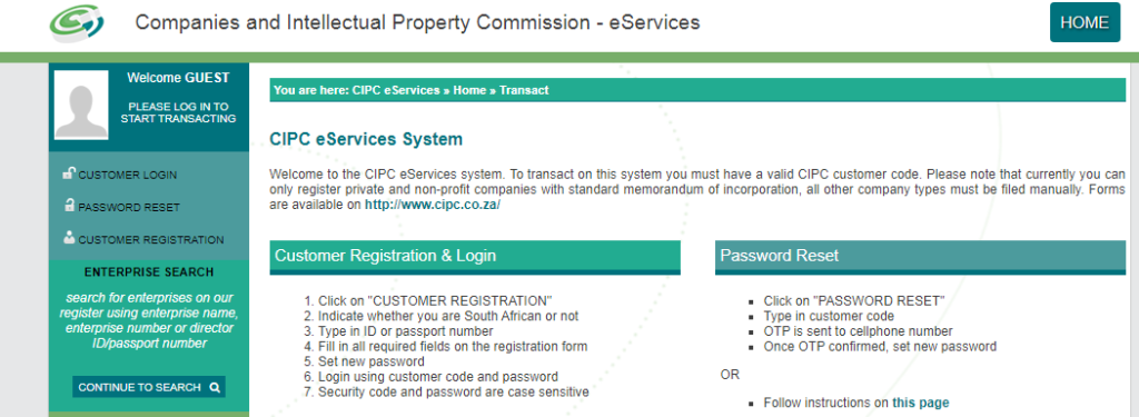 how to register a company in south africa
