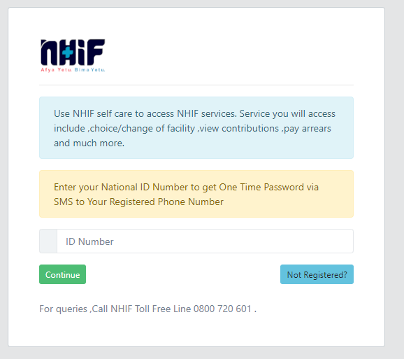 how to check nhif status