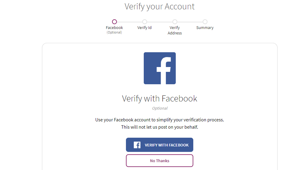 Skrill Facebook Verification
